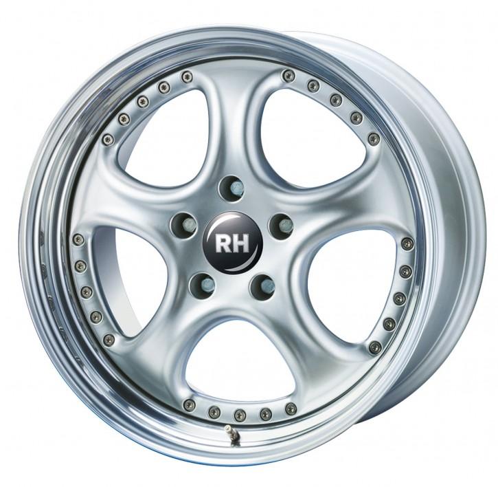 RH AL Cup 8x18 5/110 ET 41 silber/Horn hochgl.pol.