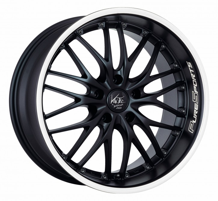 BARRACUDA VOLTEC T6 8,5x19 5/114 ET 40 Mattblack Puresports / Color Trim weiss