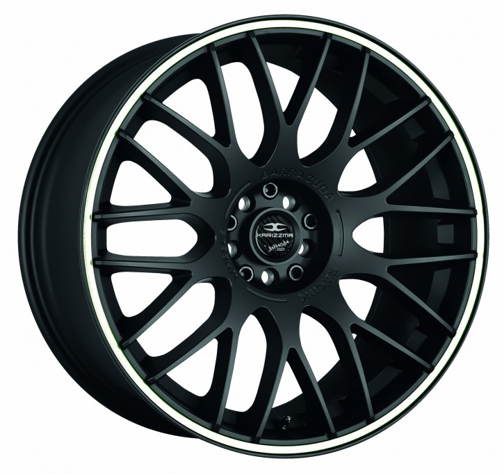 BARRACUDA KARIZZMA 7,5x17 4/98 ET 38 Mattblack Puresports / Color Trim weiss
