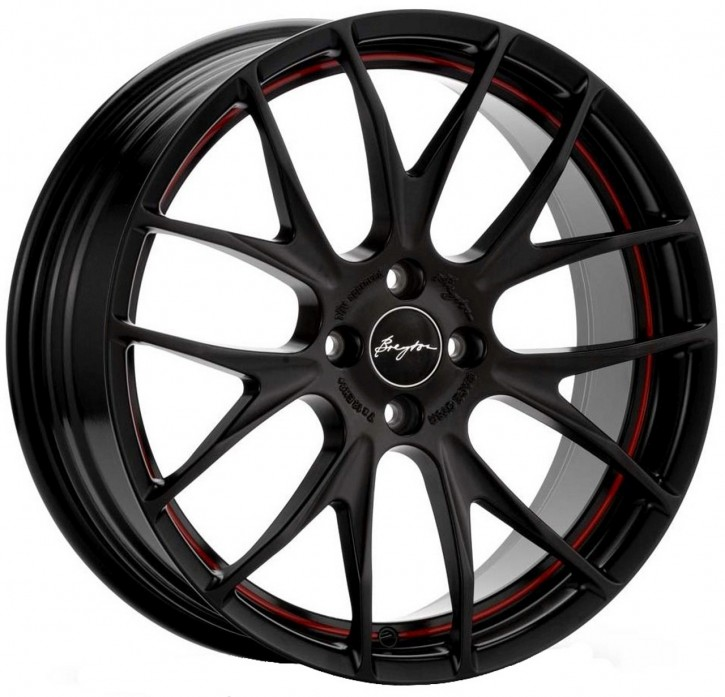 Breyton Race GTS-R 7,0x17 5-112 ET 48 Matt black red circle undercut