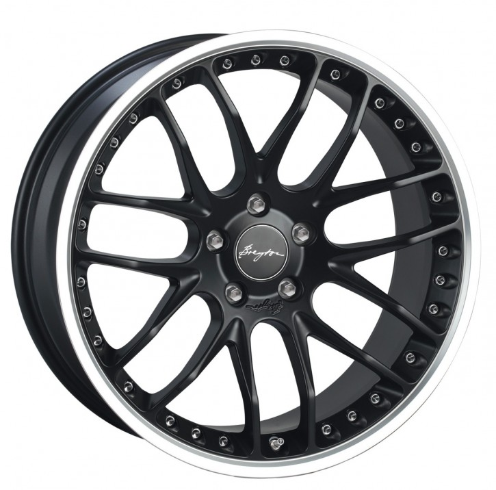 Breyton Race GTP 10,5x21 5-120 ET 30 Matt black small polished lip