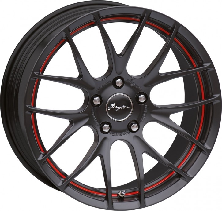 Breyton Race GTS-R 8,5x18 5-120 ET 48 Matt black red circle undercut
