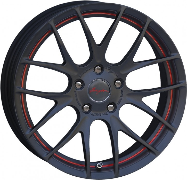 Breyton Race GTS-R 7,0x18 4-100 ET 40 Matt gun red circle undercut