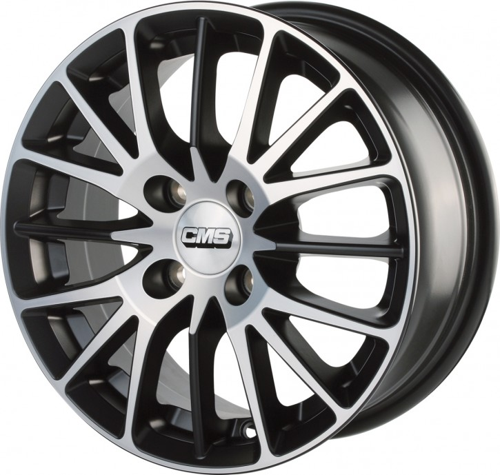 CMS C17 6x14 4/98 ET 35 Diamond Matt Black