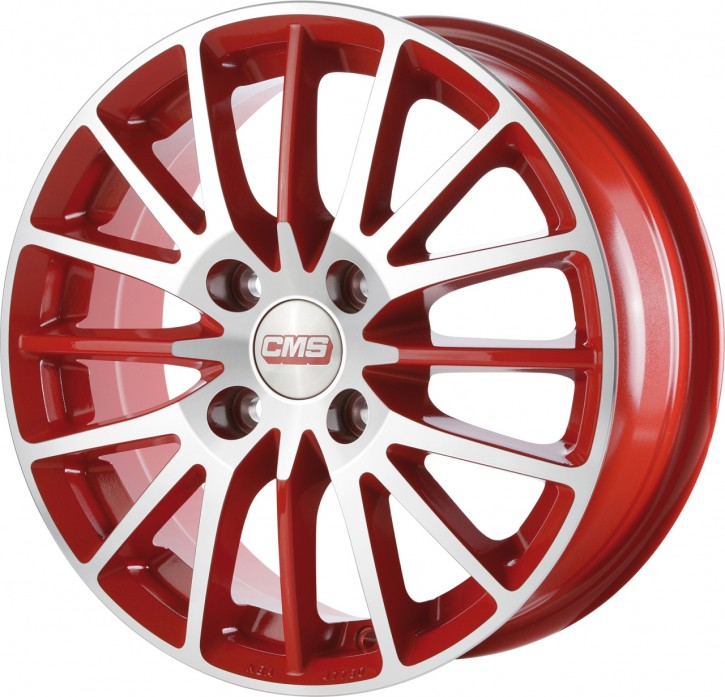 CMS C17 6x15 4/108 ET 47 Diamond Red Gloss