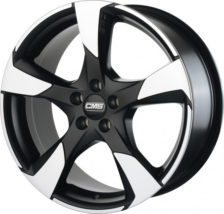 CMS C18 7x16 5/108 ET 45 Diamond Matt Black