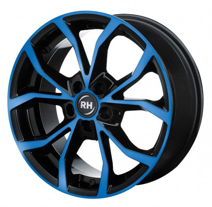 RH DF Energy 7x16 5/120 ET 45 color polished - blue