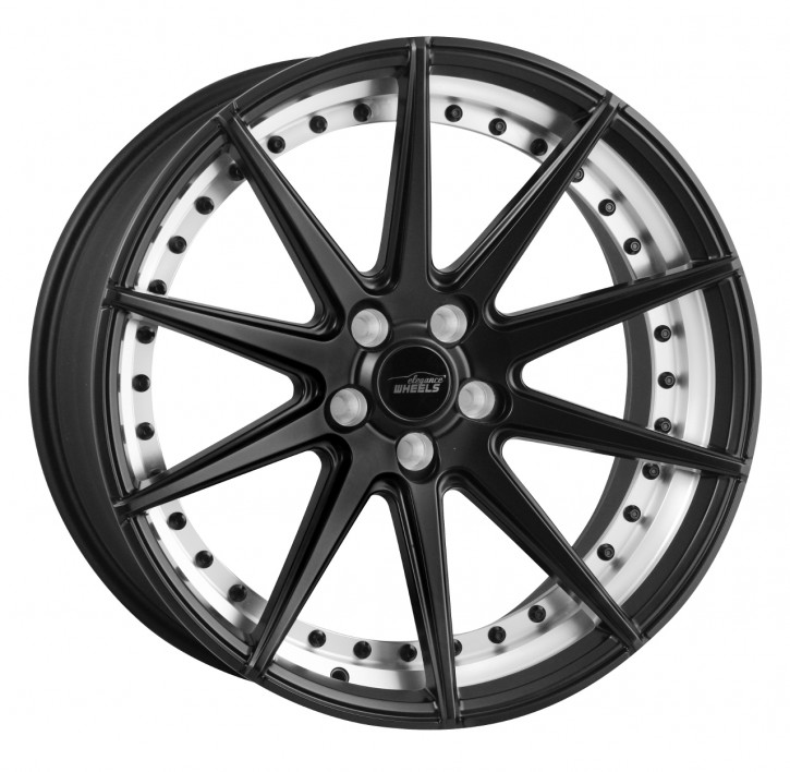 ELEGANCE WHEELS E 1 Concave 8,5x19 5/112 ET 35 Satin Black Undercut polish split rim