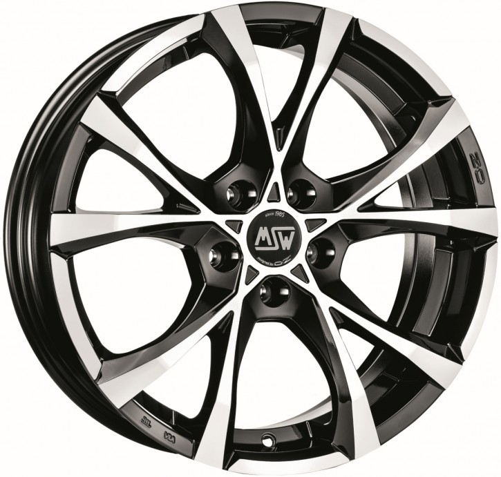 MSW CROSS OVER 7,5x17 5/108 ET 45 BLACK POLIERT