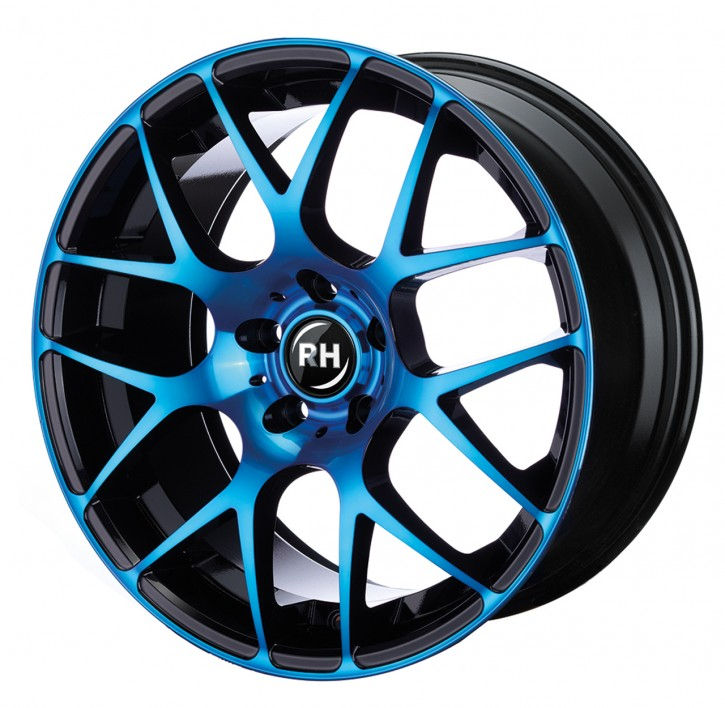 RH NBU Race 8x17 5/108 ET 45 color polished - blue