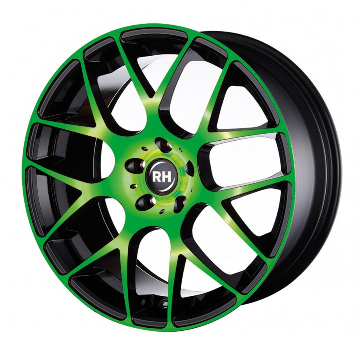 RH NBU Race 8,5x18 5/108 ET 35 color polished - green