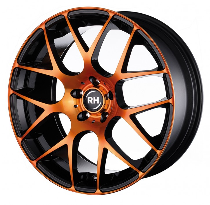 RH NBU Race 8,5x18 5/108 ET 45 color polished - orange