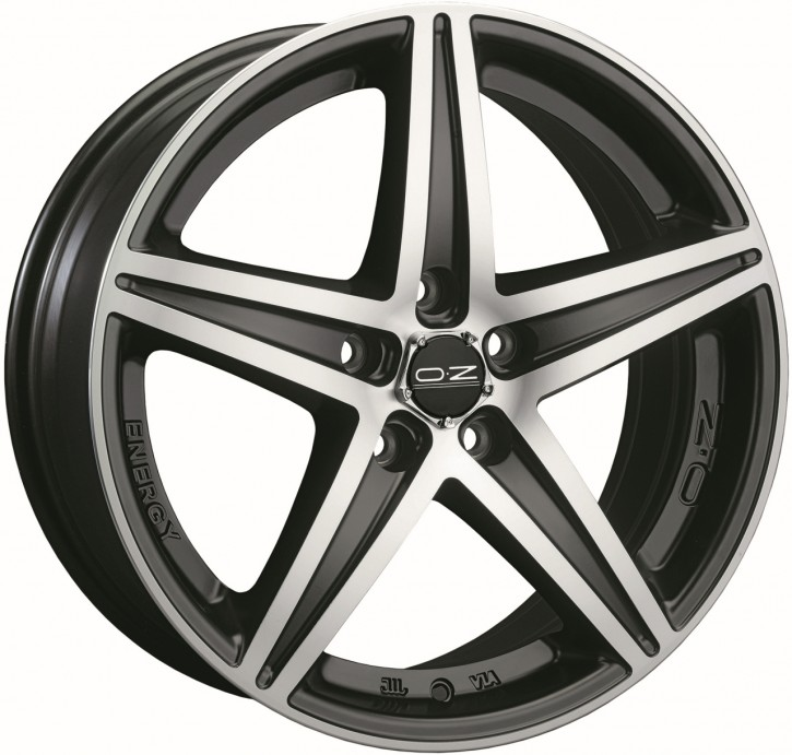 OZ ENERGY 7.5x16 5/114.3 ET 40 MATT BLACK POLIERT