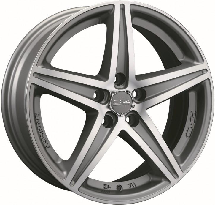 OZ ENERGY 8x18 5/112 ET 48 MATT SILVER TECH POLIERT