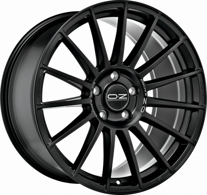 OZ SUPERTURISMO DAKAR 8.5x20 5/108 ET 40 MATT BLACK + S. LET.
