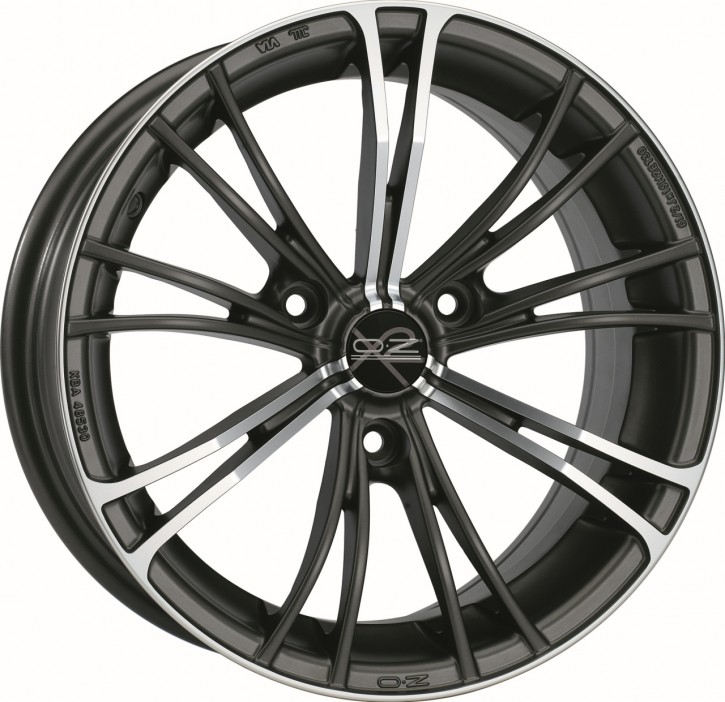 OZ X2 COOL 5.5x15 3/112 ET 30 GUN METAL POLIERT