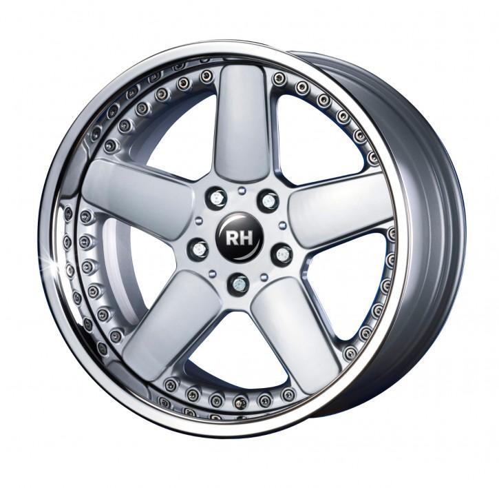 RH RAM (X)-Rad 9,5x18 5/120 ET 23 silber/Horn Edelstahl