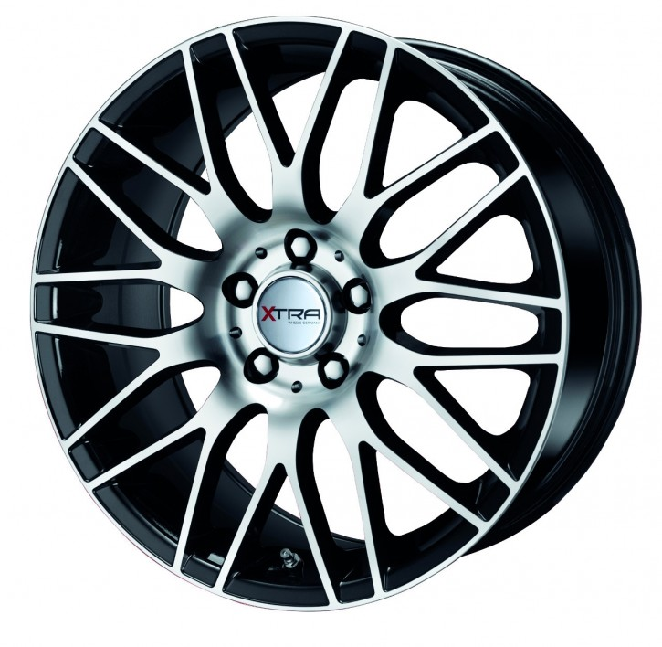 XTRA Wheels SW2 8x17 5/108 ET 35 Schwarz voll poliert
