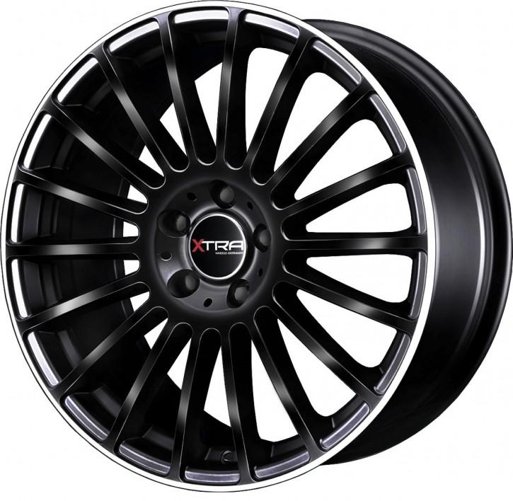 XTRA Wheels SW3 8x18 5/108 ET 45 Schwarz Horn poliert