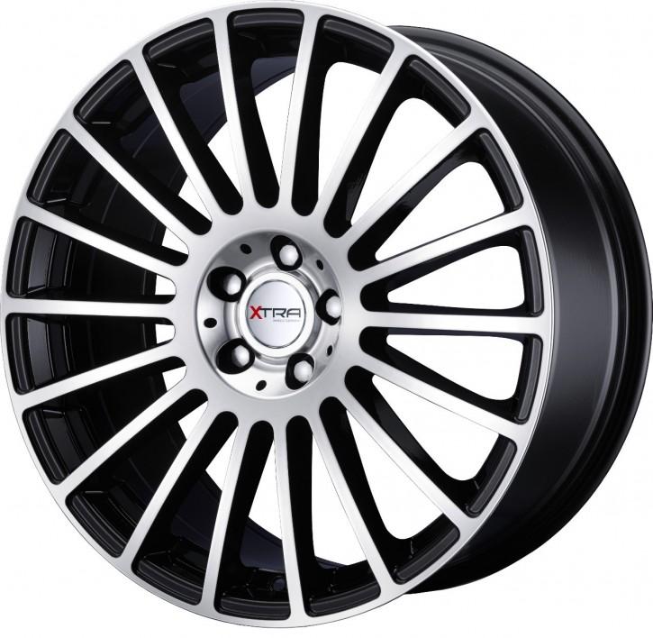 XTRA Wheels SW3 8x18 5/108 ET 45 Schwarz voll poliert