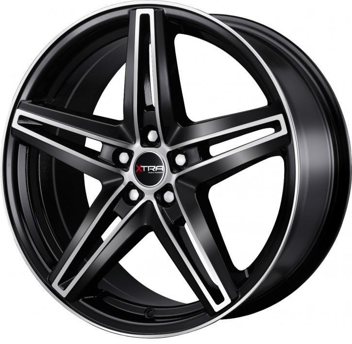 XTRA Wheels SW4 8x18 5/108 ET 45 Schwarz voll poliert