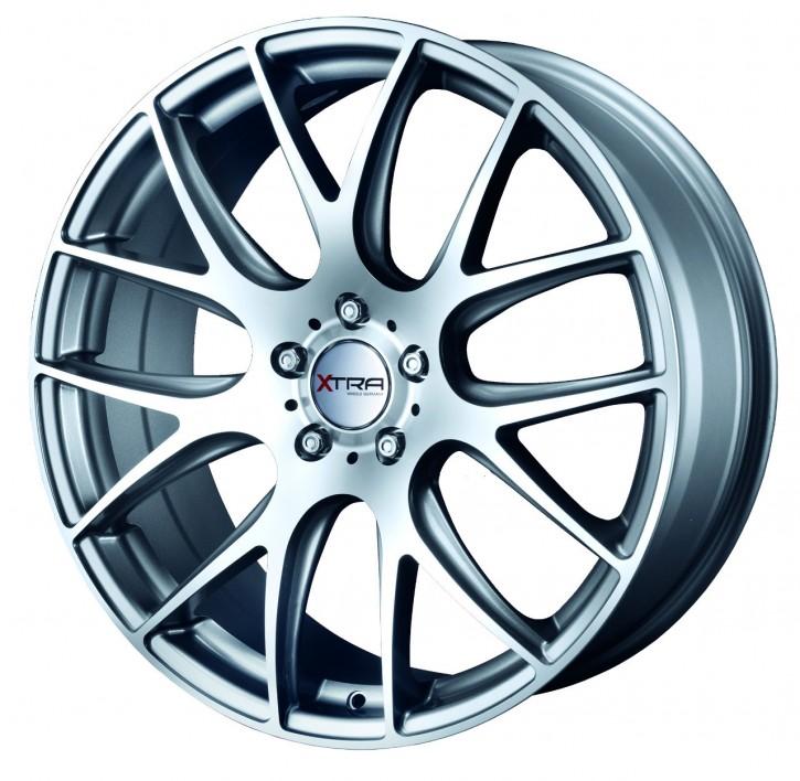XTRA Wheels SW5 8x17 5/108 ET 45 gunmetall voll poliert
