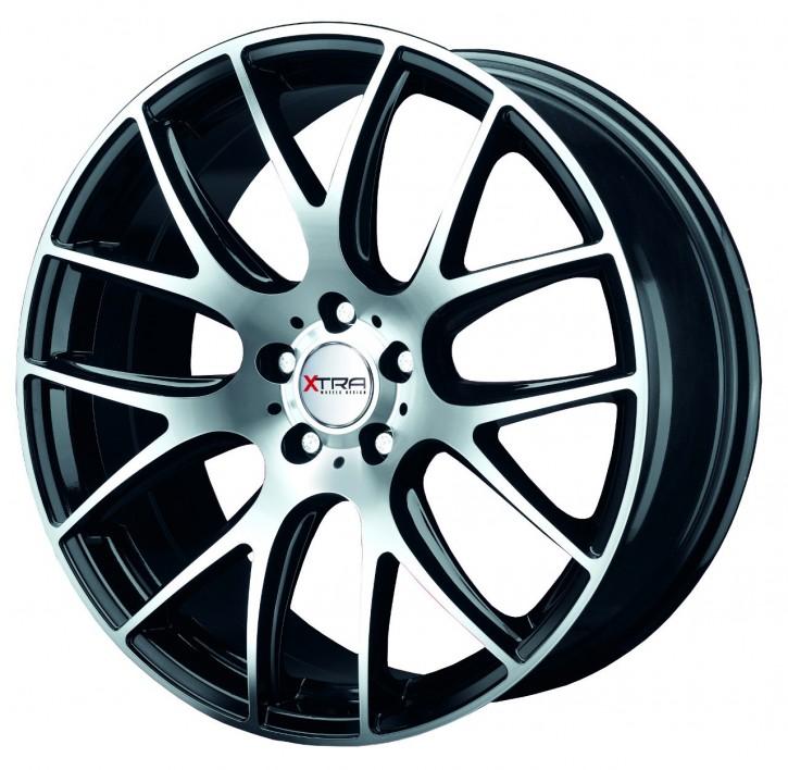 XTRA Wheels SW5 8x17 5/108 ET 35 Schwarz voll poliert