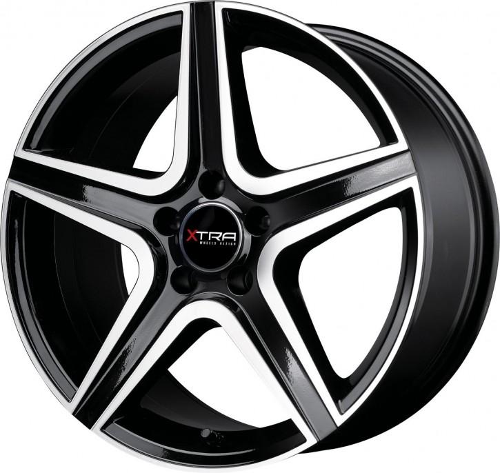 XTRA Wheels SW6 8,5x20 5/112 ET 45 Schwarz voll poliert