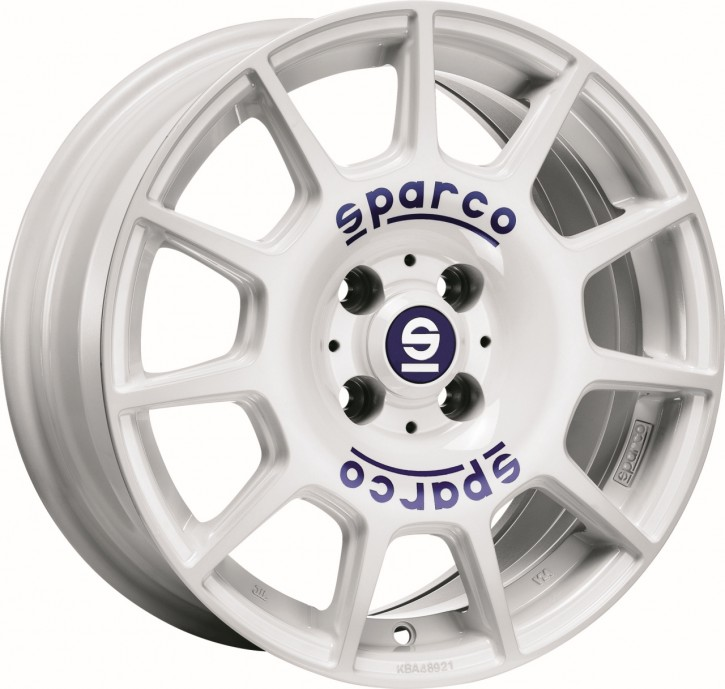 Sparco TERRA 7,5x17 5/105 ET 40 WHITE + BLUE LETTERING