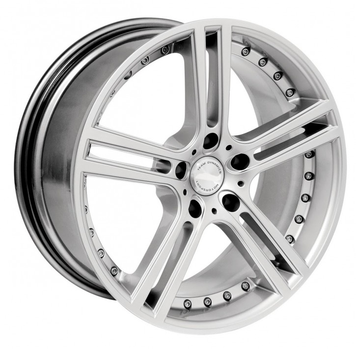 Team Dynamics LE MANS 9,5x19 5/105 ET 35 Hi-Power-Silver (Premium Silber)