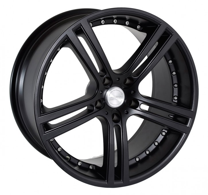 Team Dynamics LE MANS 7,5x17 5/105 ET 37 Racing-Black (Mattschwarz)