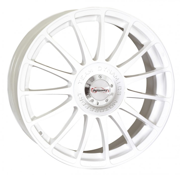 Team Dynamics MONZA R + RS 7,5x18 10/108+114 ET 37 Gloss-White (Glanzweiss)
