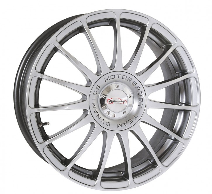 Team Dynamics MONZA R + RS 7x17 10/108+114 ET 38 Hi-Power-Silver (Premium Silber)