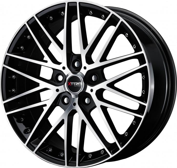 XTRA Wheels SW1 8x18 5/108 ET 45 Schwarz voll poliert