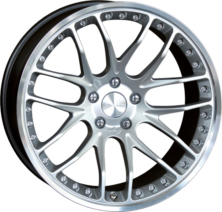 Breyton Race GTP 10,5x21 5-120 ET 30 Hyper Silver with Polished Lip