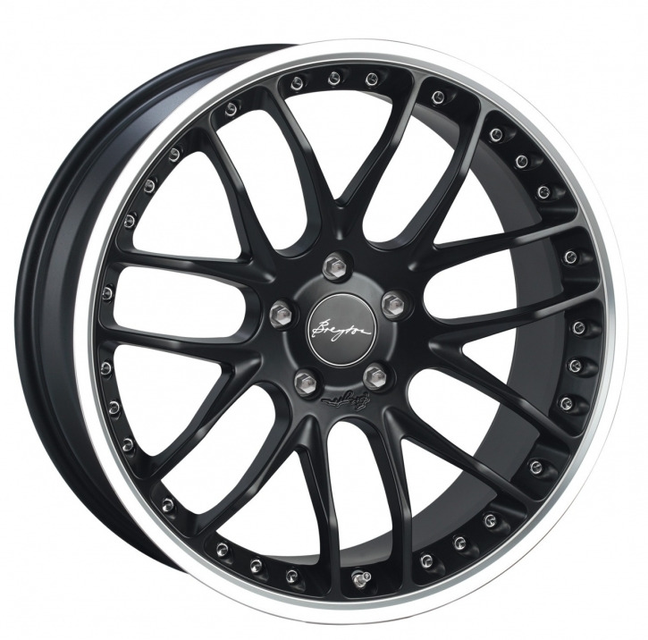 Breyton Race GTP 9,0x21 5-120 ET 33 Matt Black with Polished Lip