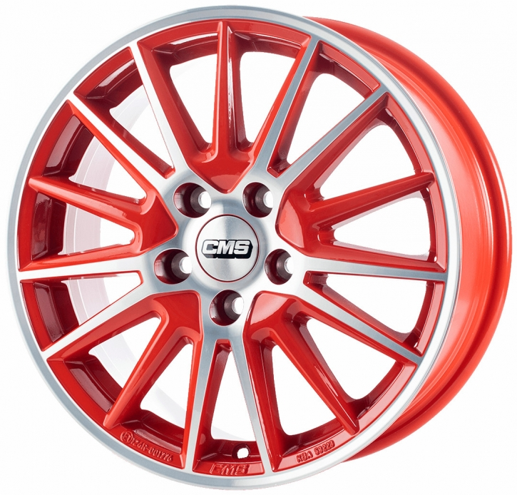 CMS C23 6,5x16 4/98 ET 35 Diamond Red Gloss