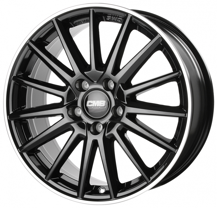 CMS C23 8x19 5/108 ET 50 Diamond Rim Black