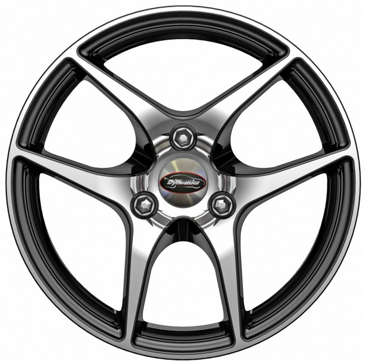 Team Dynamics EAGLE 7,5x16 3/112 ET 32 Gloss-Black mit Felgenfront poliert