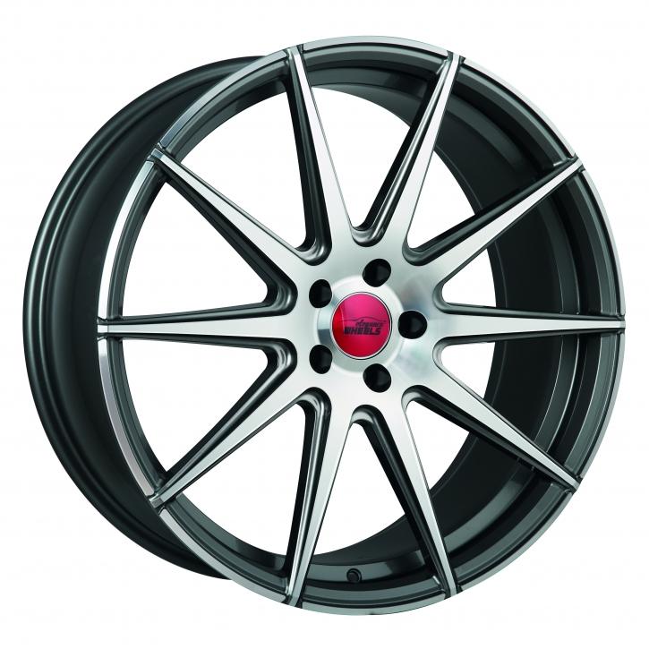 ELEGANCE WHEELS E 1 Concave 9,0x21 5/112 ET 40 Glossy Gunmetal polish