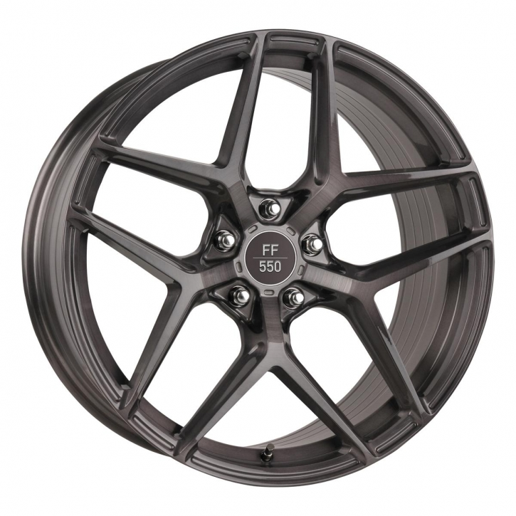 ELEGANCE WHEELS FF 550 Deep Concave 10x20 5/114,3 ET 43 Liquid Brushed Metal