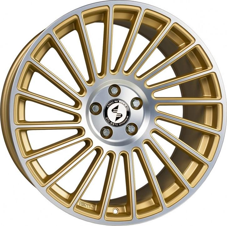 ETA BETA VENTi-R 9x19 5/108 ET 25 Gold matt lackiert Front poliert