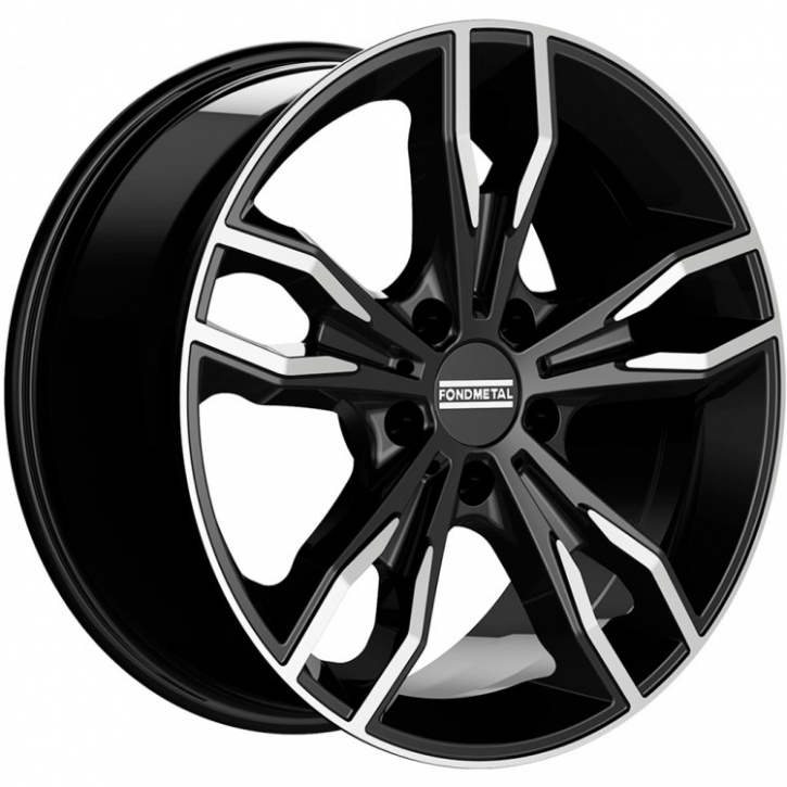 Fondmetal Alke 8,0x18 5/120 ET 45 diamond-black glossy