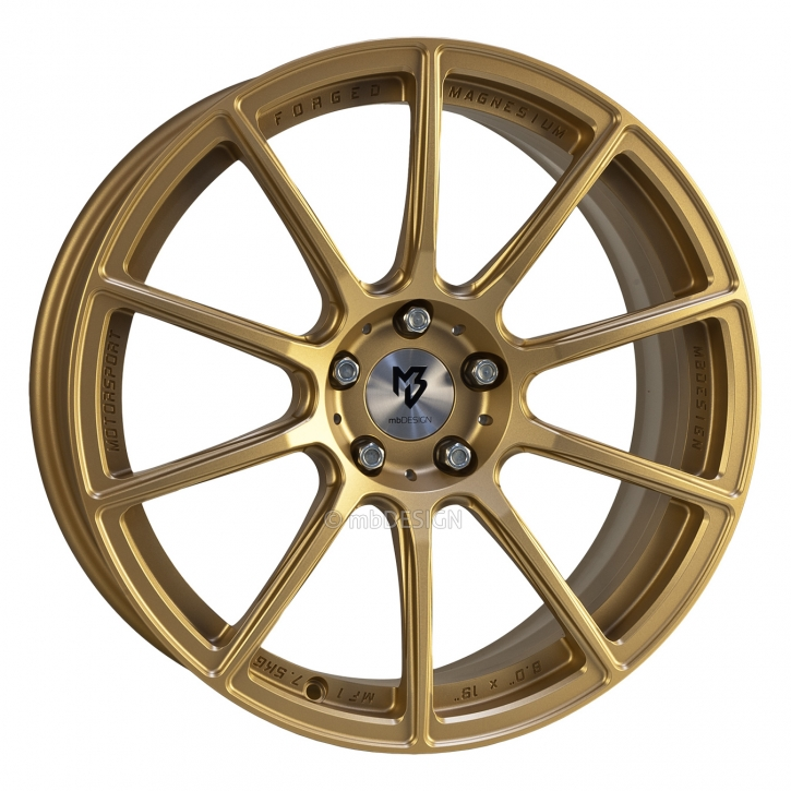 mbDESIGN MF1 7.5x18 4/108 ET 38 Gold matt lackiert