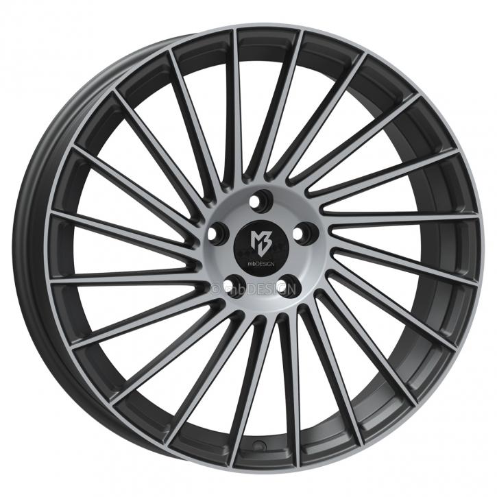 mbDESIGN VR3 7.5x18 4/108 ET 38 Grau matt lackiert Front poliert