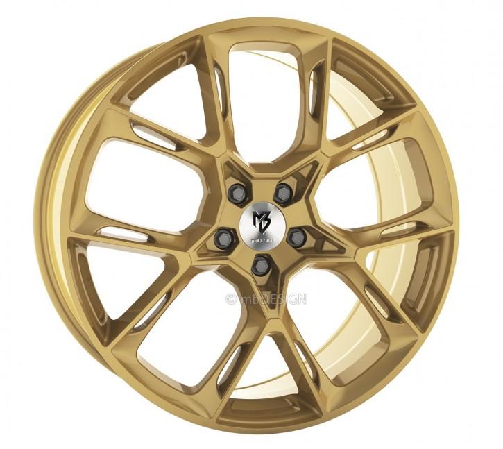 mbDESIGN KX1 10.0x21 5/108 ET 45 Gold glänzend