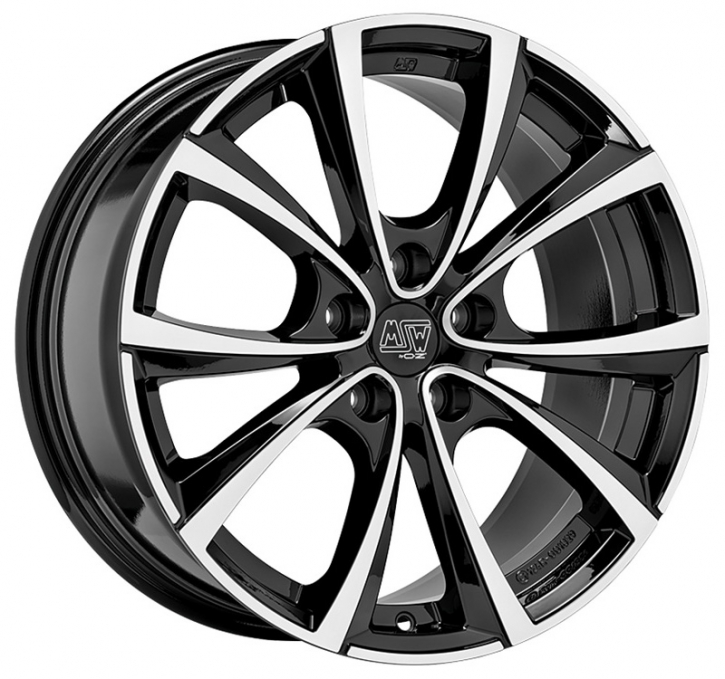 MSW 27 T 8,5x18 5/114,3 ET 40 GLOSS BLACK FULL POLISHED