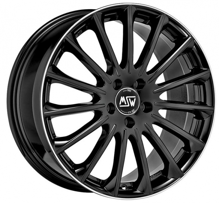 MSW 30 7,5x18 5/114,3 ET 45 GLOSS BLACK DIAM.LIP