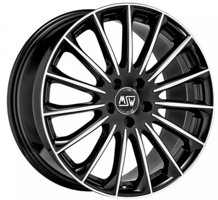 MSW 30 8,5x19 5/114,3 ET 40 GLOSS BLACK FULL POLISHED