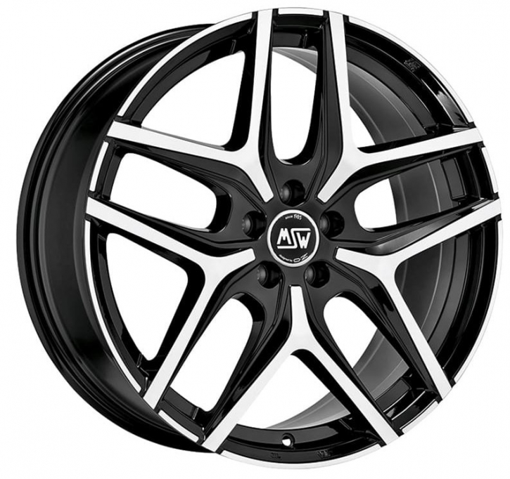 MSW 40 7x17 5/105 ET 40 GLOSS BLACK FULL POLISHED
